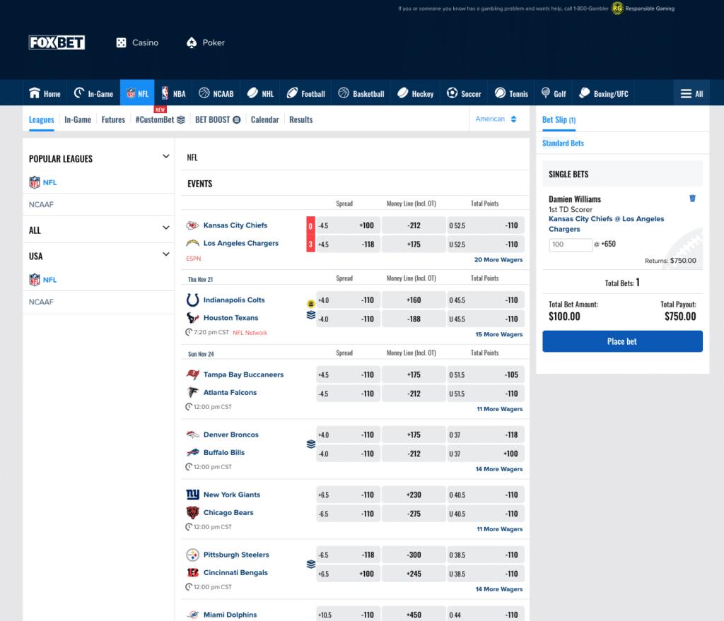 FOX Bet NFL