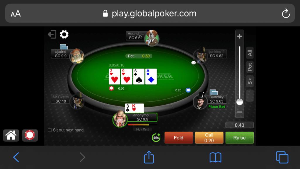 Global Poker mobile 3