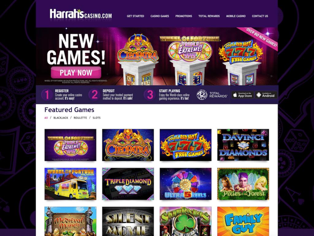 Harrahs Casino screenshot