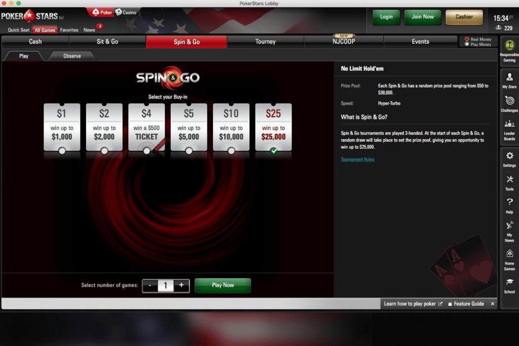 PokerStars spin n go