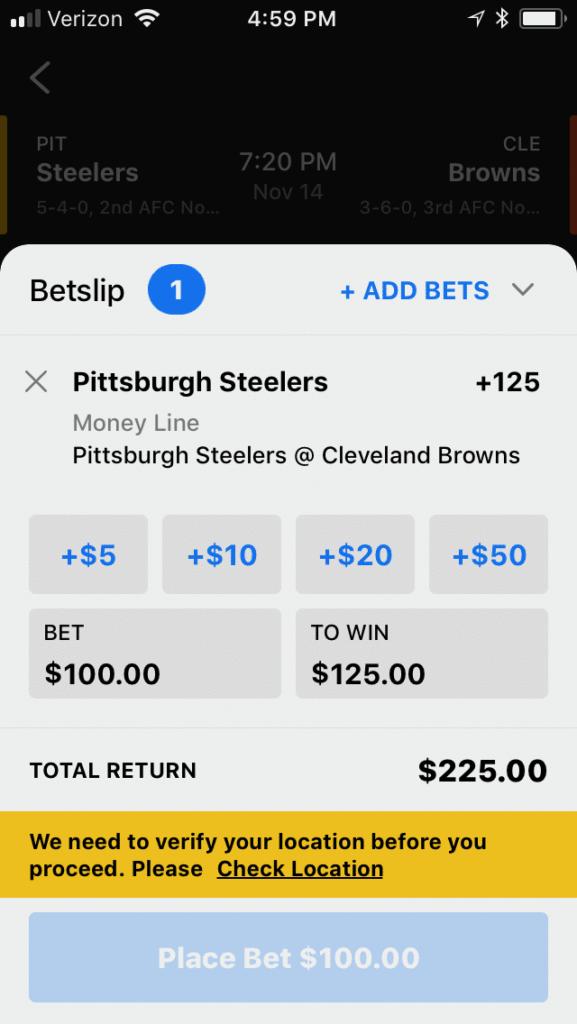 theScore betting slip