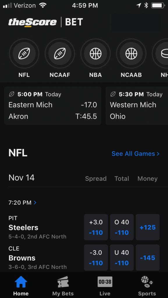theScore sports betting
